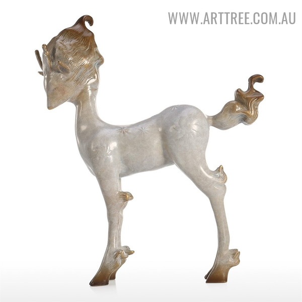 Marvelous Fairy Deer Animal Bronze Material Home Decor Statue Online