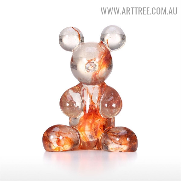Transparent Bear Animal Resin Sculpture for Sale