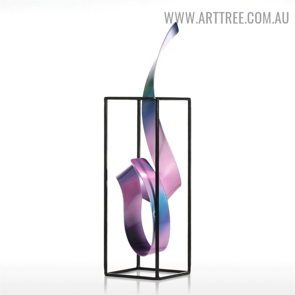 Thriving Freestanding Abstract Modern Iron Material Indoor Statue Decoration