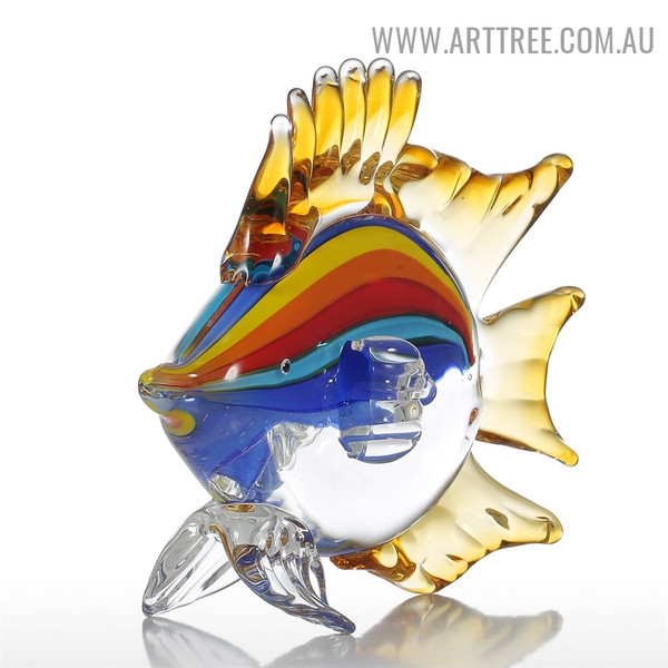 Fish Animal Figurine Glass Home Décor Sculpture Statue for Sale