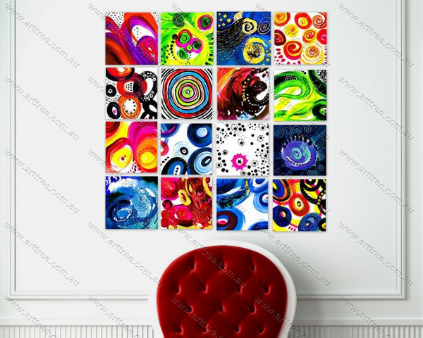 multicolor round pattern art