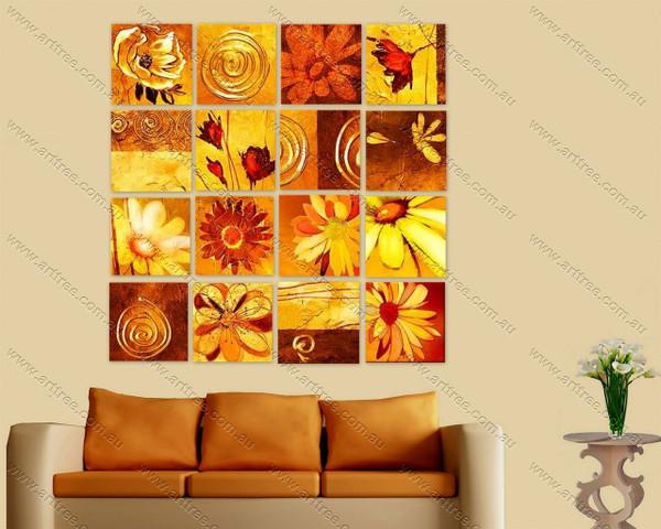 sunflower design oil painting