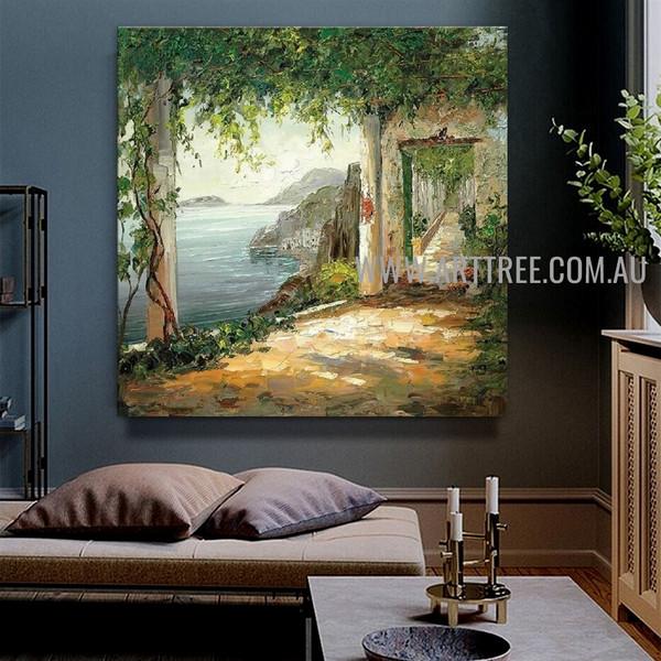 Wonderful Seascape Handmade Nature Artwork On Canvas For Room Wall Illumination