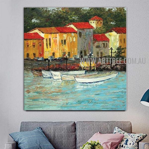 Harbour Artist Handmade Modern Acrylic Beautiful Nature Artwork On Canvas For Room Wall Drape