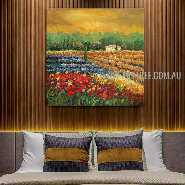 Orchard Botanical Heavy Texture Artist Handmade Acrylic Scenery Art Painting For Room Wall Getup