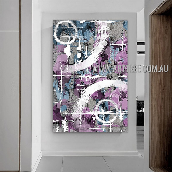 Taints Contemporary Abstract Artist Handmade Heavy Texture Framed Modern Painting For Room Wall Garniture