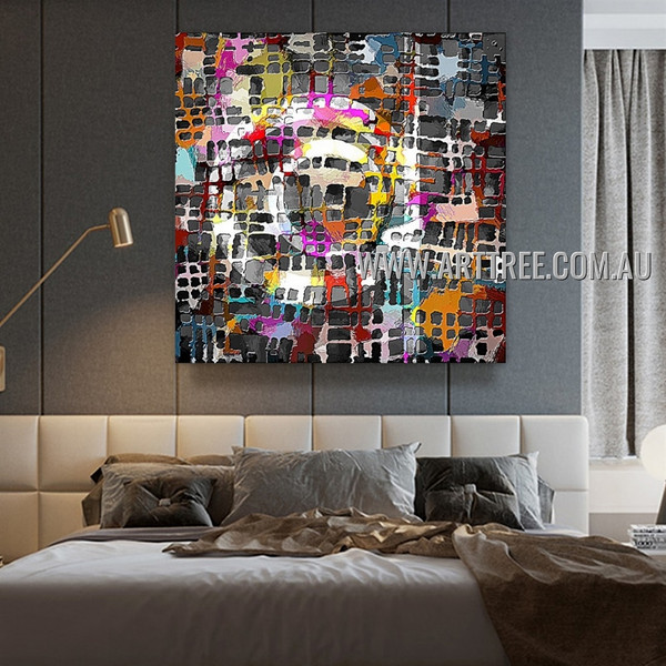 Boxes Texture Contemporary Artist Handmade Heavy Texture Stretched Modern Abstract Wall Art Painting For Room Wall Ornamentation