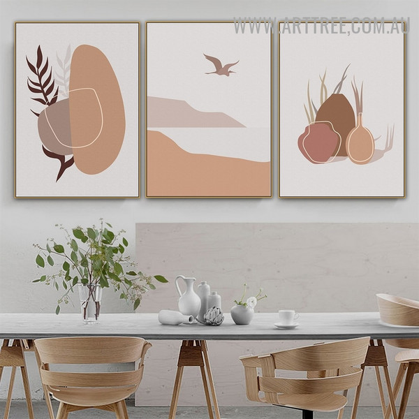 Vase Stone Mountains Naturescape Photo 3 Piece Abstract Scandinavian Canvas Print Wall Art for Room Outfit