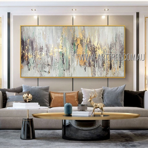 Chromatic Flaws Modern Artist Handmade Heavy Texture  Abstract Acrylic Painting For Room Getup