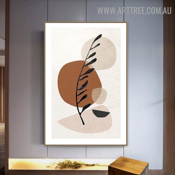 Circular Daubs Spots Scandinavian Geometrical Artwork Photo Abstract Canvas Print For Room Wall Drape