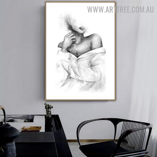 Fashionable Distaff Women Abstract Figure Art Photo Retro Canvas Print for Room Wall Decor