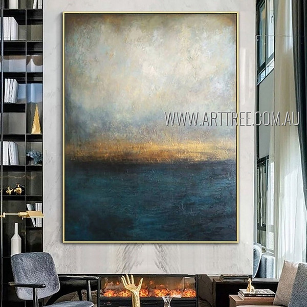 Dapple Taints Abstract Heavy Texture Artist Handmade Contemporary Art Painting For Room Getup
