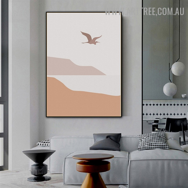 Sea Mountain Water Scandinavian Landscape Abstract Painting Picture Canvas Print for Room Wall Garniture
