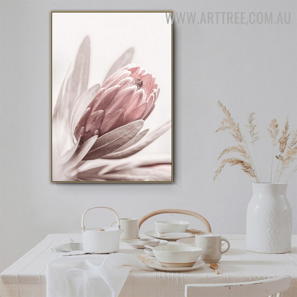 Peony Flower Leaflets Abstract Floral Art Modern Pic Canvas Print for Room Wall Equipment