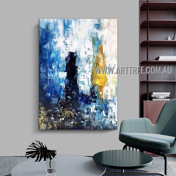 Dapple Splotchy Abstract Heavy Texture Artist Handmade Contemporary Art Painting for Room Drape