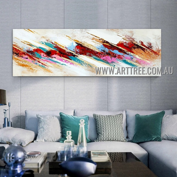 Artistic Splashes Modern Heavy Texture Artist Handmade Abstract Wall Art Painting for Room Decoration