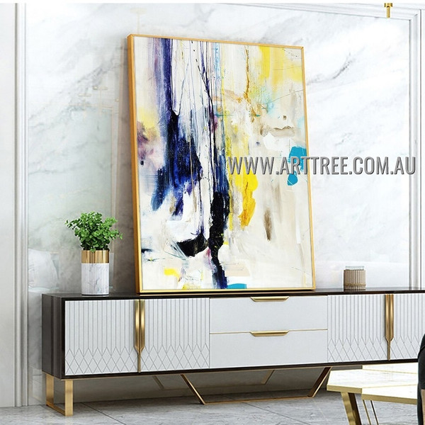 Dapple Splash Abstract Heavy Texture Artist Handmade Modern Art Painting for Room Garniture