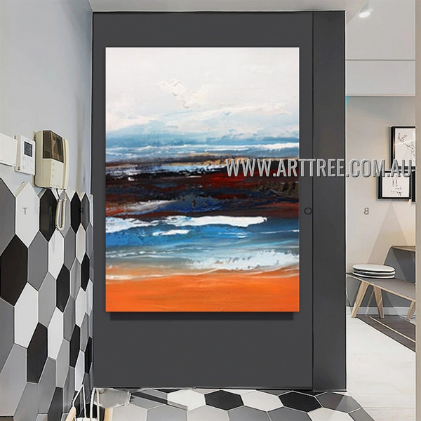Colorific Design Modern Heavy Texture Artist Handmade Abstract Wall Art Painting for Room Onlay