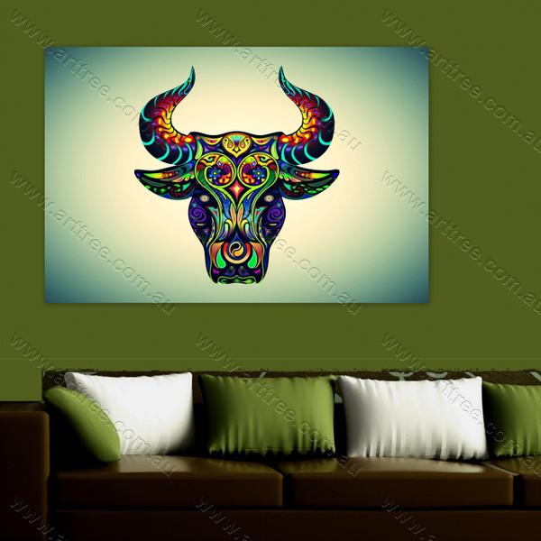 Colorful Bull Art