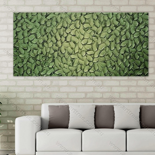 Green Texture Painting