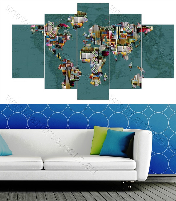 Abstract Map Art