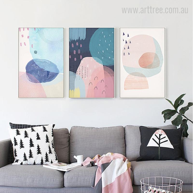 Abstract Multi Pink Princess Design
