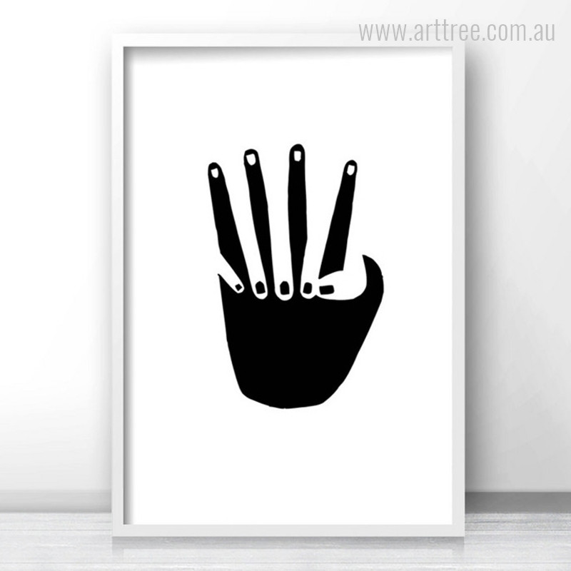 Black and White Holding Hands Canvas Print