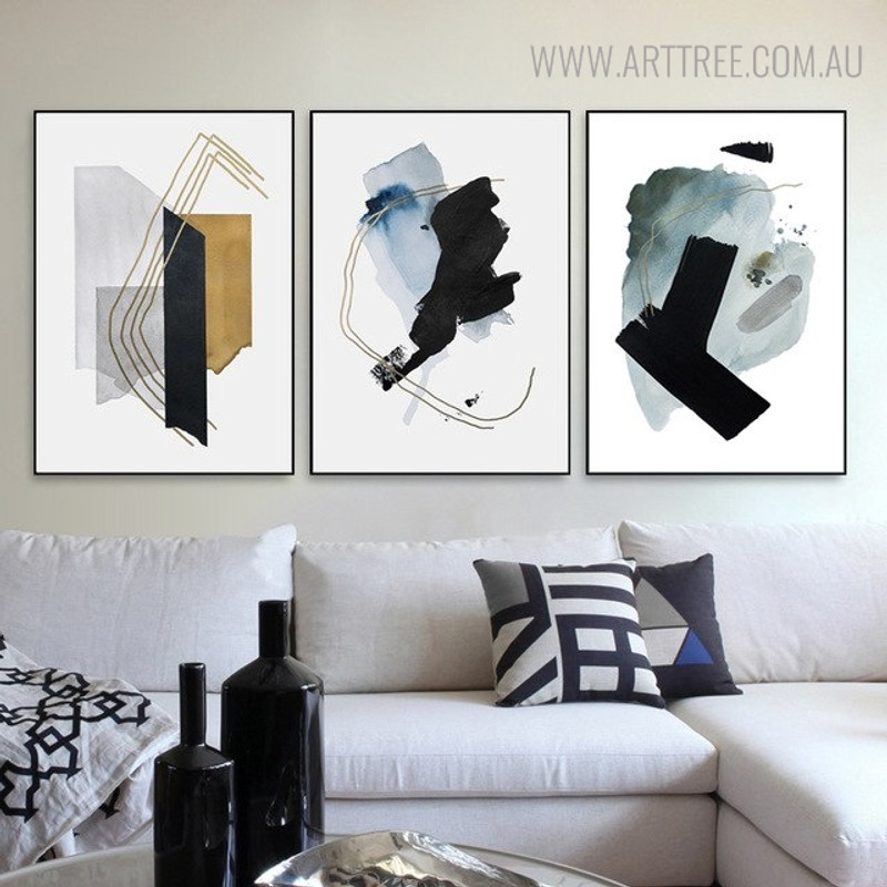 Ink Failure Abstract Watercolor Painting Print for Living Room Wall Art