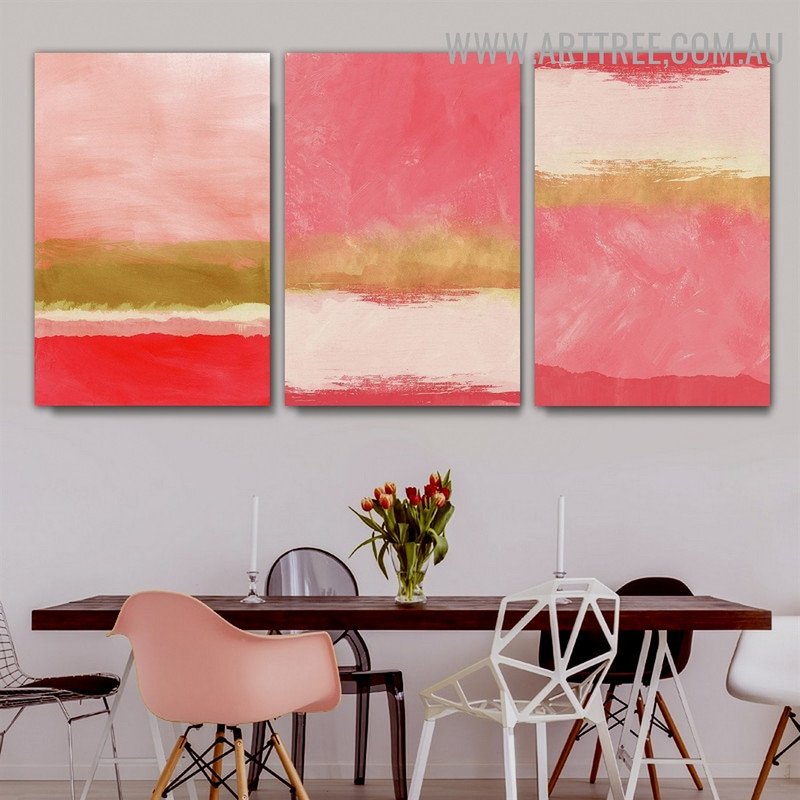 Colorific Speckles Spots 3 Piece Abstract Modern Scandinavian Painting Image Canvas Print for Room Wall Finery