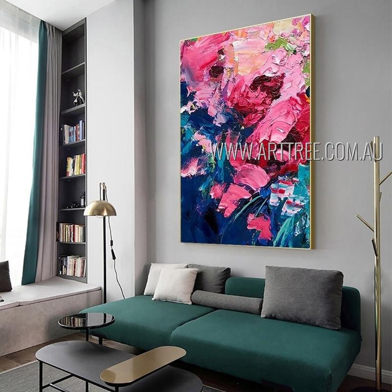 Multicolor Daubs Modern Heavy Texture Artist Handmade Abstract Art Painting For Room Embellishment