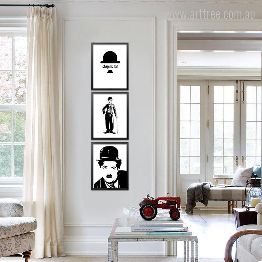 English Comic Actor Charlie Chaplin Print Set
