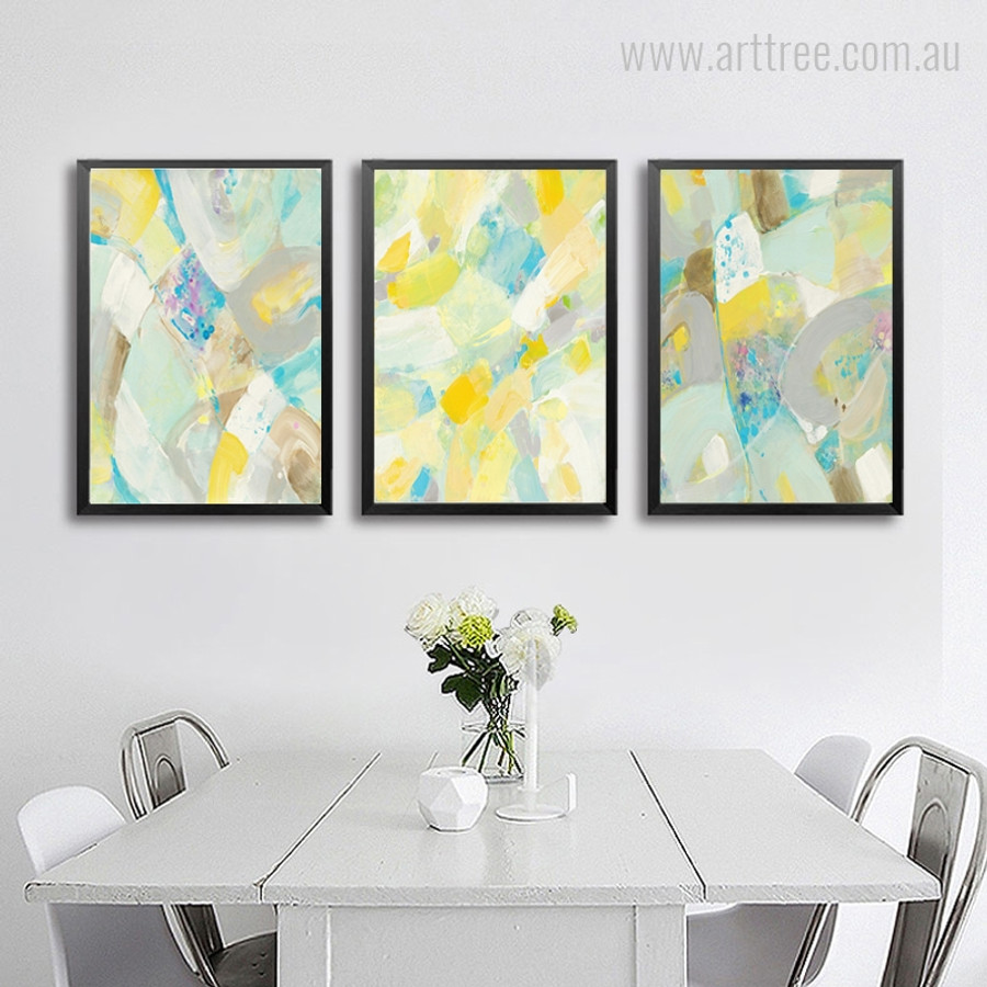Abstract Marble Rock Sunspots Wall Art