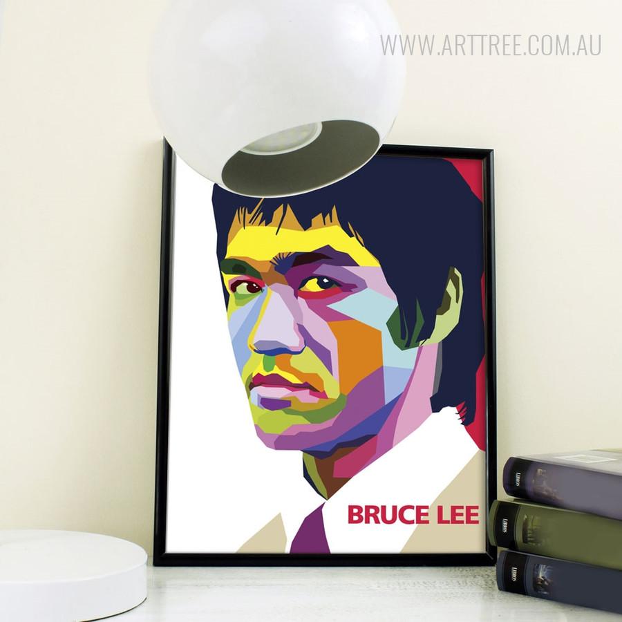 Bruce Lee Kongfu Martial Master Pop Art