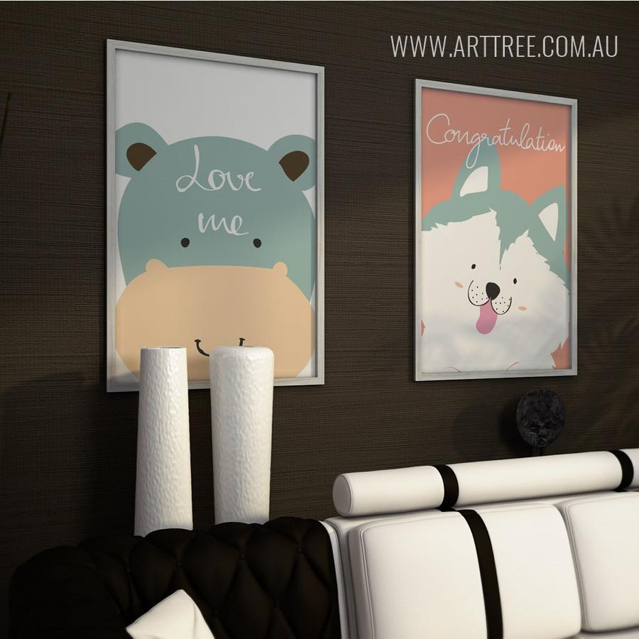 Love Me Hippo, Congratulations Dog Animal Prints