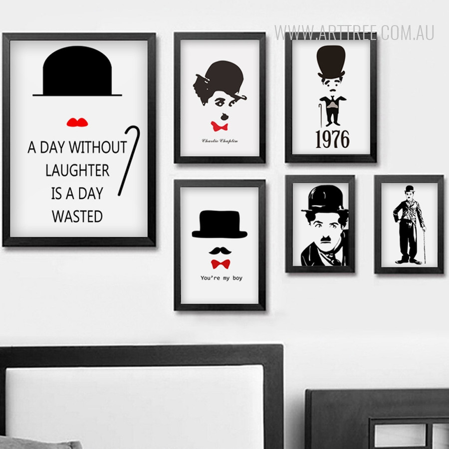 Charlie Chaplin Quotes Large Wall Art