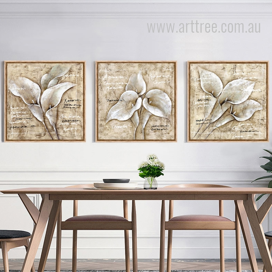 White Calla Lily Flowers Design Botanical Prints