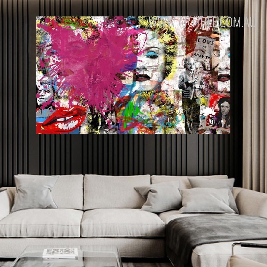 Love Is The Answer Heart Blast Street Art Graffiti Canvas Print