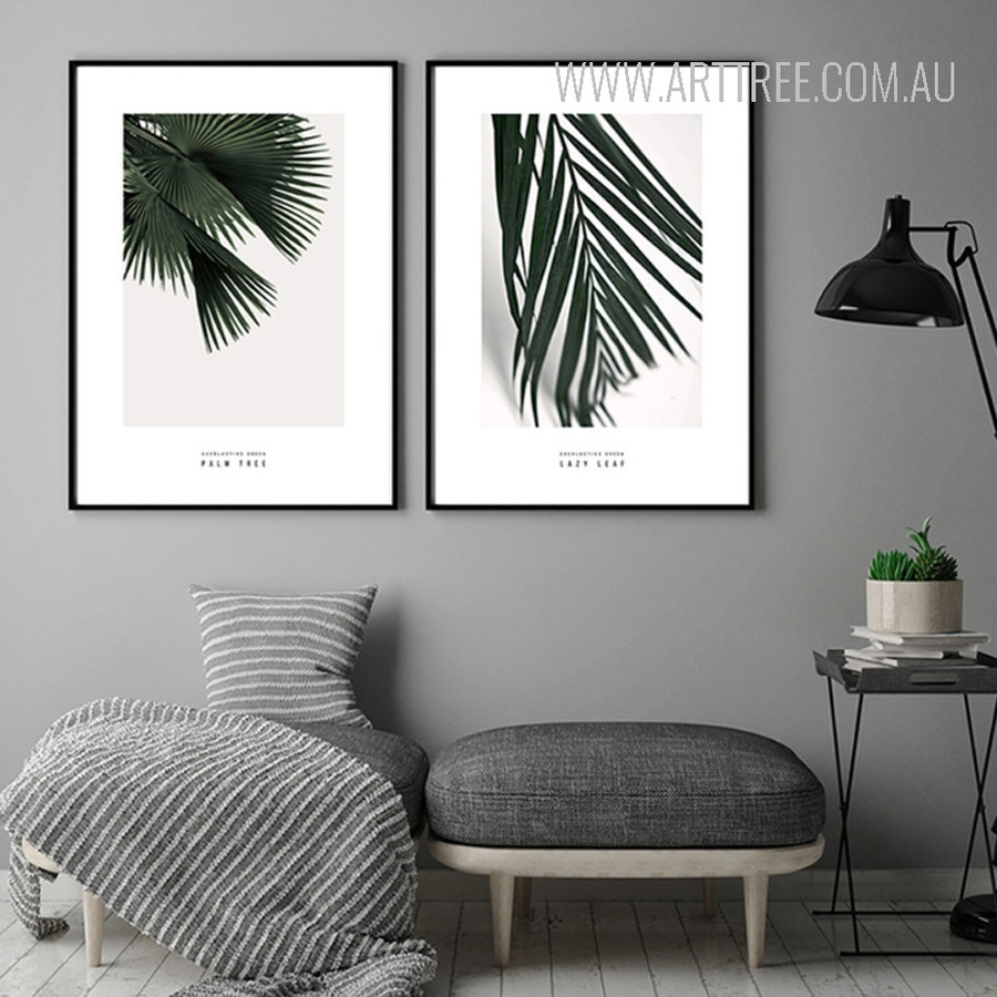 Palm Tree Leaves Botanical Canvas Prints