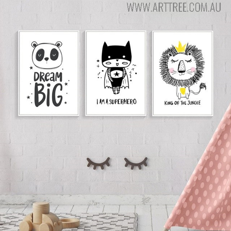King of the Jungle Quotes Animated Wall Art