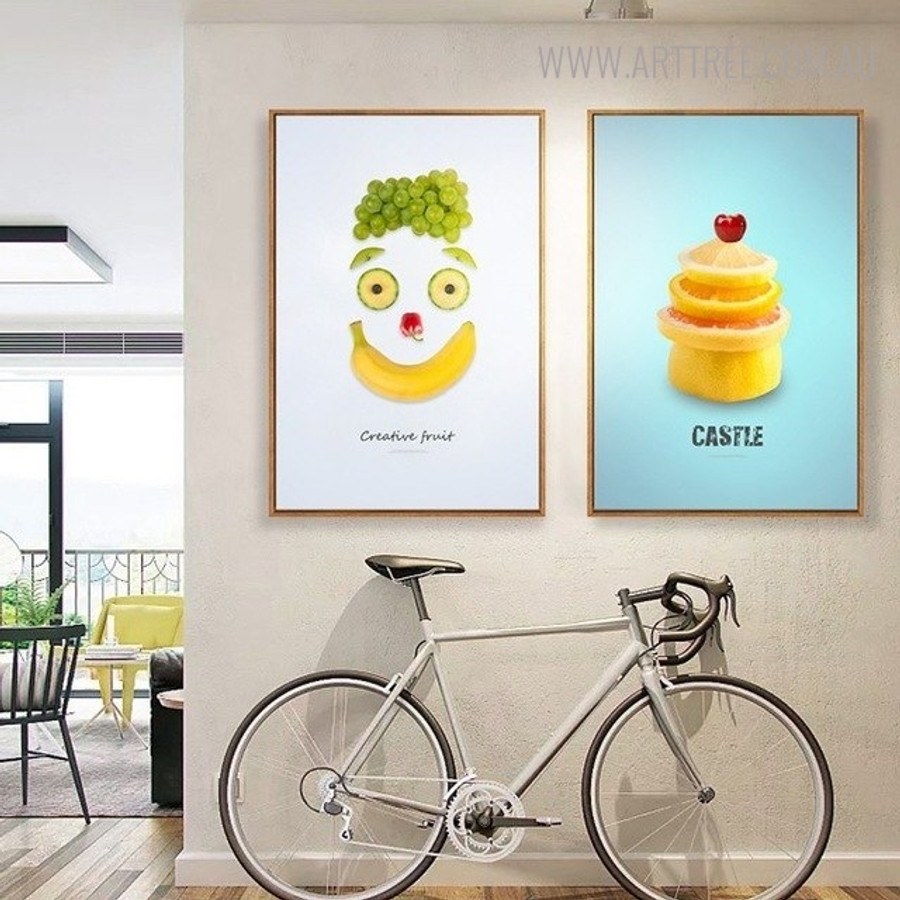 Creative Face Abstract Creative Nordic Painting Print for Home Wall Decoration