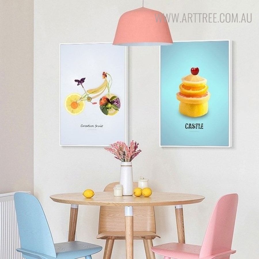 Abstract Cycle Creative Nordic Painting Print for Kitchen Wall Decor