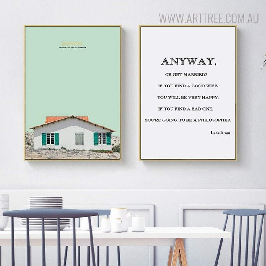 Anyway Quotes Modern Painting Canvas Print for Dining Room Wall Ornament