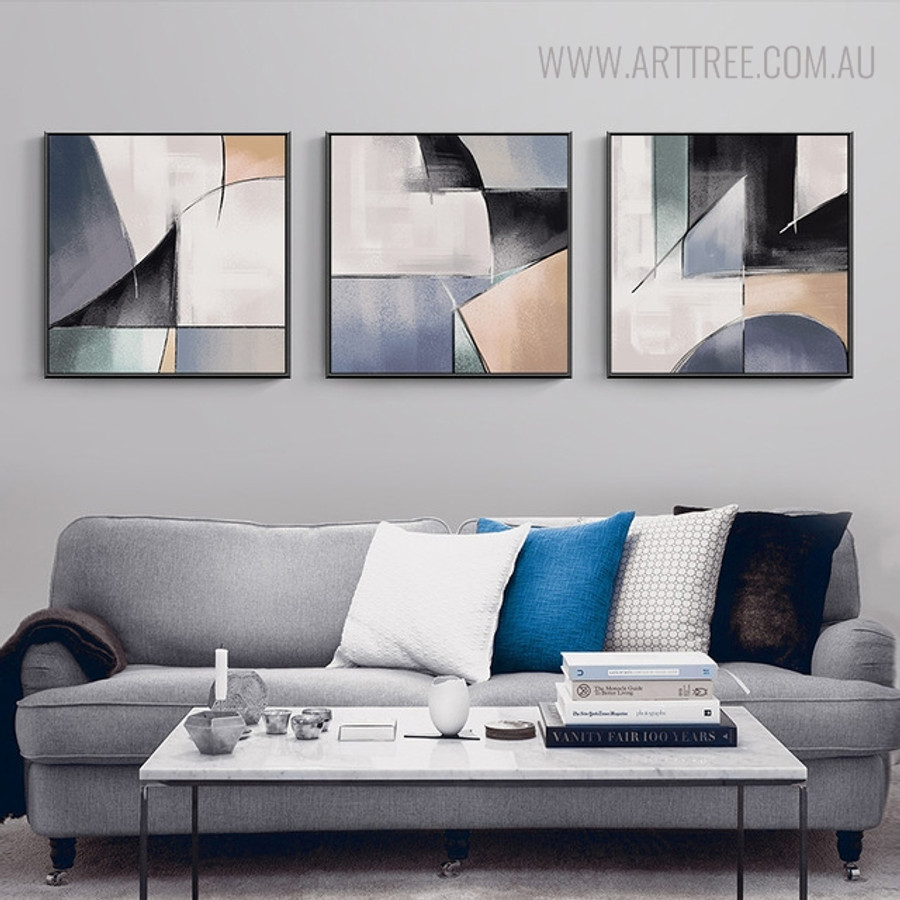 Gaudy Abstract Vintage Watercolor Wall Art Print for Living Room Decor