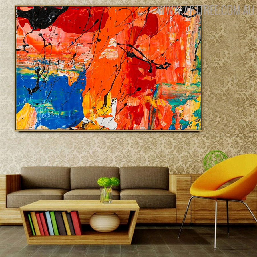 Abstract Portrayal Canvas Art for Study Room Wall Getup
