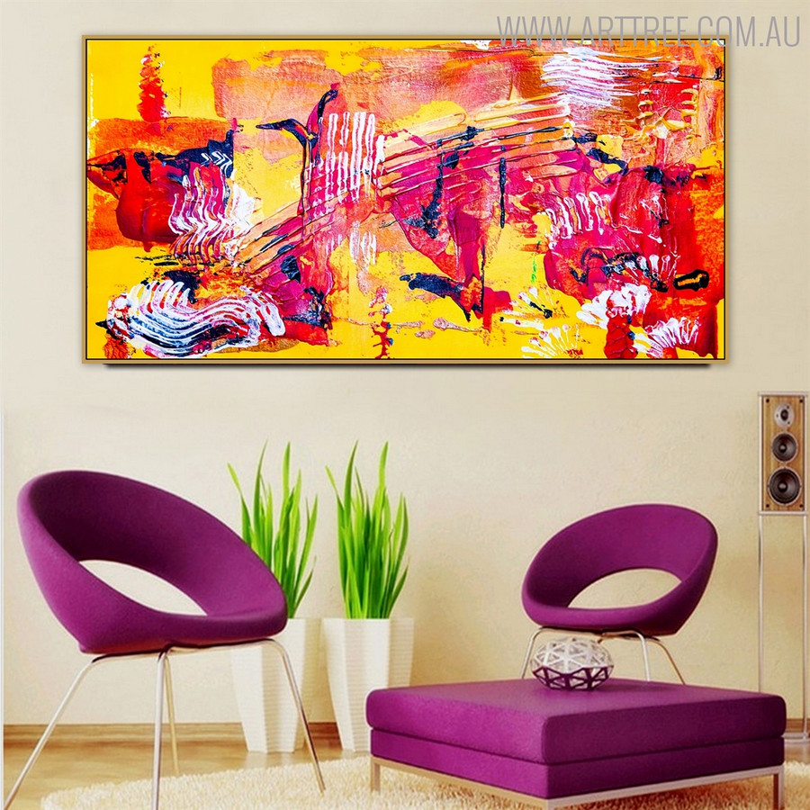 Marks Abstract Texture Framed Acrylic Portrayal for Interior Wall Assortment