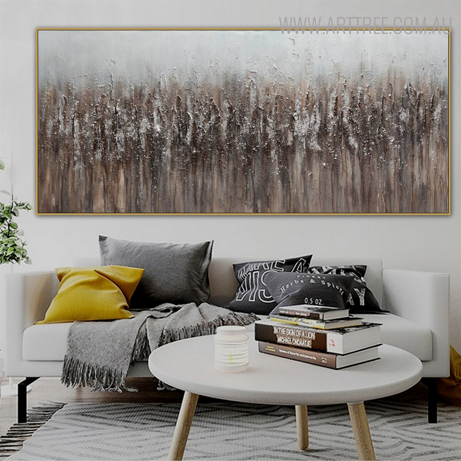 Dark Shade Abstract Modern Panoramic Acrylic Vignette for Room Wall Finery
