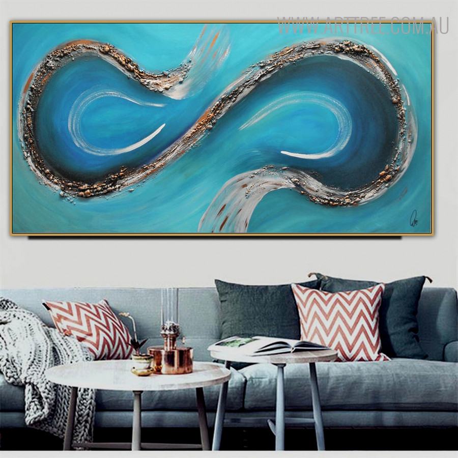 Little Stones Abstract Framed Heavy Texture Handmade Canvas Artwork for Living Room Wall Decor