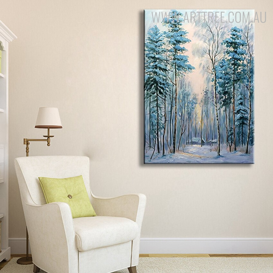 Moor Abstract Framed Nature Handmade Oil Resemblance for Living Room Wall Flourish