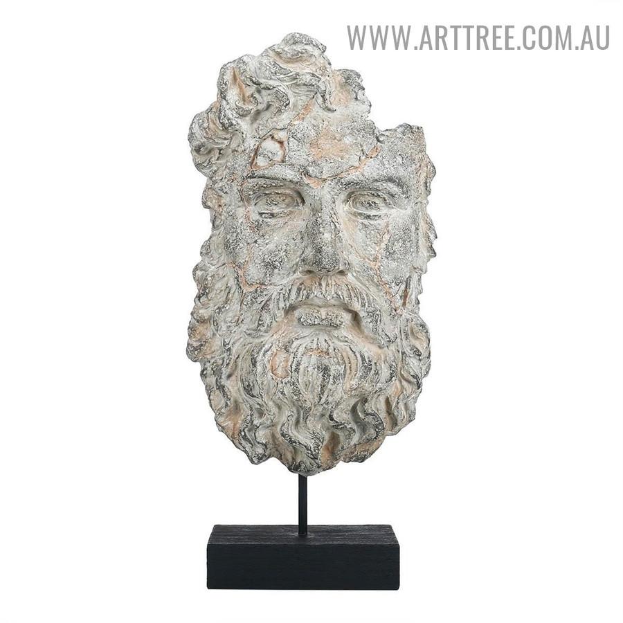 Incomplete Face Figurine Sculpture