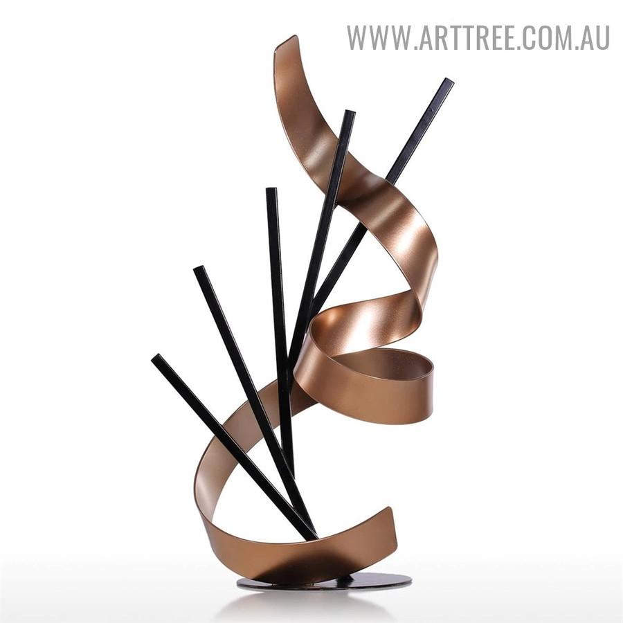 Sticks and Ribbon Modern Iron Home Décor Statue Online